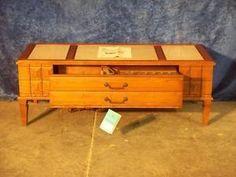 Vintage TRUETONE Solid State Radio Phono Combination Hi Fidelity Coffee Table