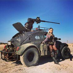Mad Max vw beetle # badass girl .... ♠ VW beetle  bug♠... X Bros Apparel Vintage Motor T-shirts, VW Beetle & Bus T-shirts, Great price