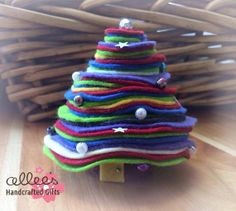 Minature Felt Christmas Tree decoration by allieshandcrafted, $10.00