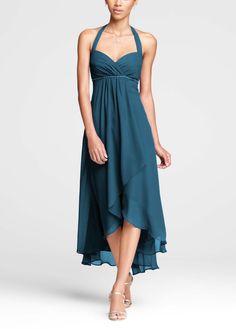 David's Bridal Peacock Dress