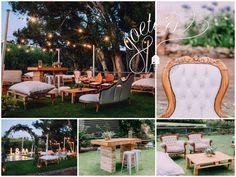 Love the combination of rustic & romantic furniture