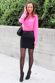 love the neon pink top