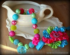 Toddler Girl Bubblegum Bead Chunky Necklace