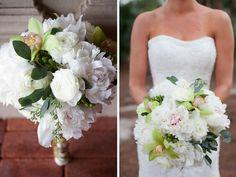 Green & Blue Elegant Florida Wedding#bouquets