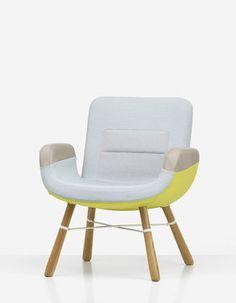 East River Chair (yellow) by Hella Jongerius _ Vitra