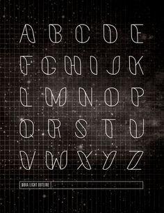Nova: A Typeface by Sally Carmichael, via Behance