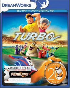 Grab Turbo on DVD, Blu-Ray, and Digital Copy for only $9.99 PLUS get $7.50 to see Penguins of Madagascar, in theaters Thanksgiving 2014!