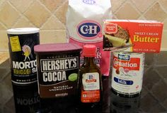 Our Family Favorite Recipes: Simple Boiled Chocolate Fudge Frosting Hershey Cocoa, Hershey Chocolate, Chocolate Fudge Frosting, Cupcake Cakes, Cupcakes, Icing Frosting, Stick Of Butter, Family Recipes, Frostings