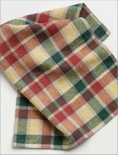 """Herringbone Twill Towels Weave either two or four lovely kitchen towels (16.5"""" x 24"""")using our Aurora Earth 8/2 100% unmercerized cotton on any 4-shaft, 10 dent reed and 20"""" wide table or floor loom."""