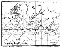 "This is a map of a Planetary Energy Grid system based on Buckminister Fullers's geodesic dome model. William Becker and Bethe Hagens published this map in They call it the pattern of ""Earthstar"" Interesting site. Lake Michigan, Chakras, Earth Grid, Dragon Line, Earth Drawings, Zero Point Energy, Creepy, Grid System, Ancient Aliens"