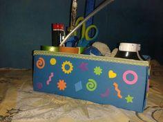 Organizador con material reciclado