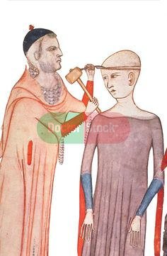 12th century physician Trepanning woman for pain (she probably had a Migraine).