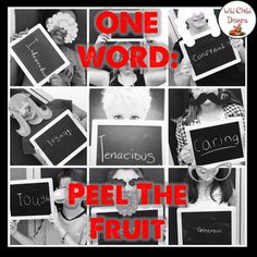Here's one approach to implementing Peel The Fruit. This graphic organizer helps students delve into their goals for the school year by helping them pick a focus word for the school year.  Hope you enjoy this freebie!