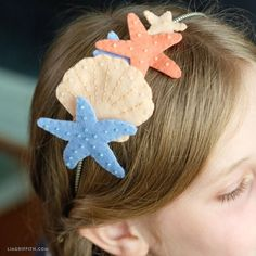 Felt Mermaid Headband - Lia Griffith - Best Picture For diy furniture For Your Taste You are looking for something, and it is going to t - Mermaid Kids, Mermaid Crafts, Mermaid Under The Sea, Mermaid Hat, The Little Mermaid, Felt Crafts Diy, Felt Diy, Crafts For Kids, Kids Headbands
