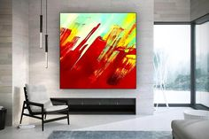 Extra Large Wall Art Abstract Painting Bedroom Decor image 2 Large Canvas Wall Art, Abstract Canvas Art, Extra Large Wall Art, Large Painting, Oil Painting On Canvas, Oversized Wall Art, Colorful Artwork, Office Wall Art, Texture Art