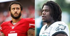 Eagle's Rookie Myke Tavarres Joins Colin Kaepernick in Protest Against U. Colin Kaepernick, National Anthem, African American History, Black Star, Civil Rights, World History, Black People, Police