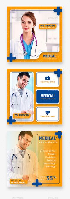 Social Media Banners, perfectly suitable for promote medical & services. search tag: #Medical #Instagram #Banner - Social Media #Web #Elements