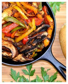The best Vegan Fajitas with homemade seasoning feature portobello mushrooms, red onions & bell peppers. Recipe by The Veg Life!