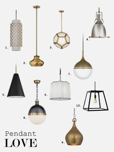 What type of pendant light will look best in your kitchen? A new light can give it a whole new look! -- Brought to you by LG Studio. Number 9 for my kitchen. Rustic Pendant Lighting, Pendant Light Fixtures, Pendant Lights, Interior Lighting, Home Lighting, New Kitchen Interior, Kitchen Pendants, Living At Home, Room Lights