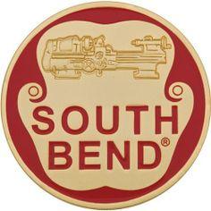 SOUTH BEND EMBLEM Lathe Machine, Machine Tools, Vintage Tools, Vintage Signs, Metal Working Machines, South Bend Lathe, Tool Room, Workshop Ideas, Metalworking