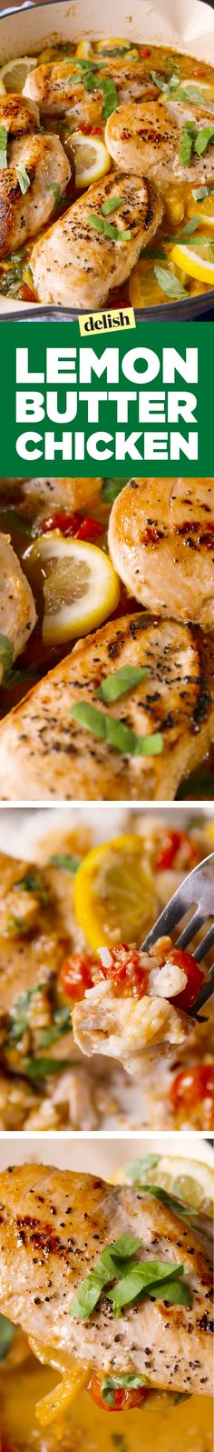 Lemon Butter Chicken is the chicken dinner you've always wanted. Get the recipe on Delish.com.