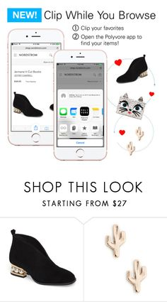 """""""NEW for iPhone! Clip While You Browse"""" by polyvore ❤ liked on Polyvore featuring Jeffrey Campbell, Sole Society and Karl Lagerfeld"""
