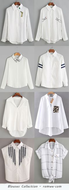 White Blouses Collection 2017 - romwe.com