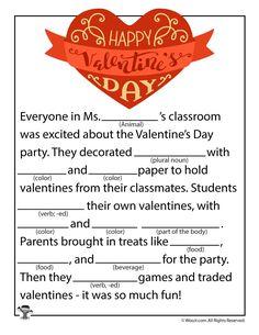 Happy Valentine's Day Mad Lib for Kids