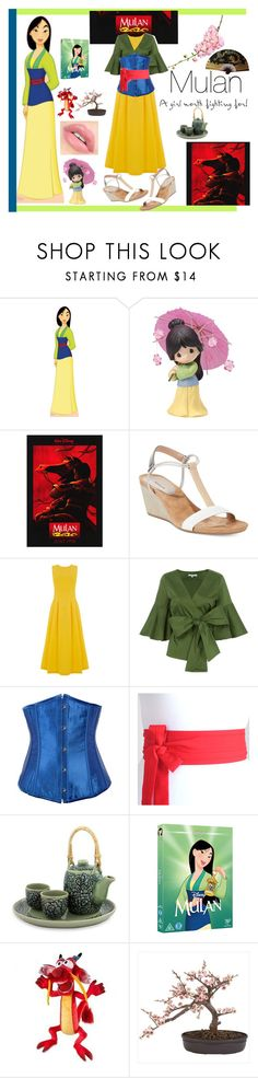 """""""Mulan"""" by bitty-junkkitty ❤ liked on Polyvore featuring Precious Moments, Style & Co., Warehouse, Alexis, Alivila.Y Fashion, NOVICA and Nearly Natural"""
