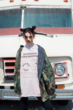 Psychedelic T-Shirt Dress | Fall / Winter 2016 release | photo: @underclassphoto | model: Maddy Figueredo