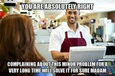Customer service sarcasm