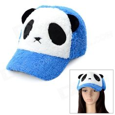 Cute Panda Style Baseball Hat Cap - White + Black + Blue d5acdc314e7e