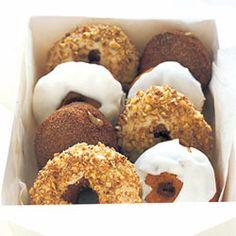 Maple-Glazed Sour Cream Doughnuts with Sugared-Walnut Streusel