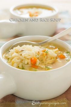 Classic Chicken and Rice Soup - Food Recipes