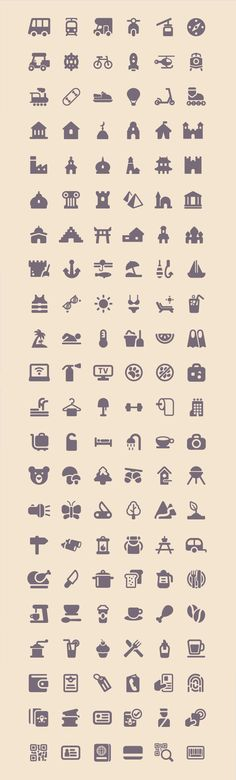 Full preview of all 100 icons.