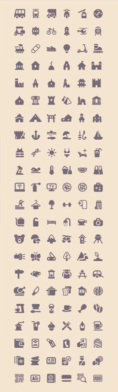 Freebie: Tourism & Travel Icon Set (100 Icons, PNG, SVG) by Smashing Magazine