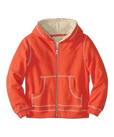 Take a look at this Orange Flame Fleece Zip-Up Hoodie - Infant, Toddler & Boys on zulily today!