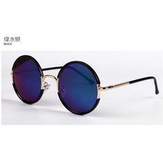 Round Sunglasses ($13) ❤ liked on Polyvore featuring accessories, eyewear, sunglasses, black glasses, round frame sunglasses, matte sunglasses, lens glasses and black sunglasses