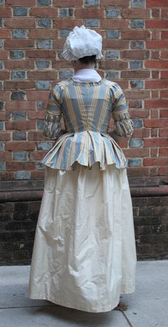 1770s Striped Caraco Jacket by GoldenHind on Etsy