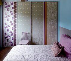 Imagen: armario decorado con papel.