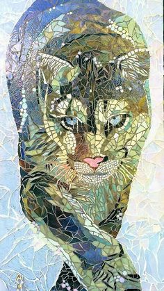 Buy Snow Puma, a mosaic sculpture on glass, by Anne Bedel from France, … - Trends Garden Decorations L'art Du Vitrail, Art Resin, Art Pierre, Afrique Art, Mosaic Animals, Mosaic Artwork, Mosaic Crafts, Stained Glass Art, Mosaic Glass Art