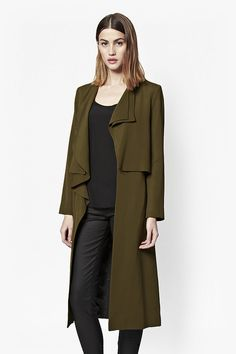 French Connection Cassie Waterfall Duster Coat (£175)