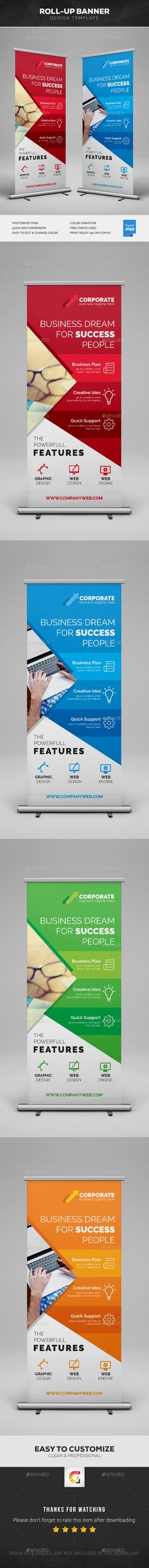 Corporate Roll-Up Banner Design Template PSD - Graphic Templates Search Engine Invoice Template, Banner Template, Flyer Template, Templates, Roll Up Design, Rollup Banner, Cool Business Cards, Email Design, Banner Design