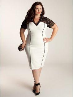 Ivory Plus Size Dress