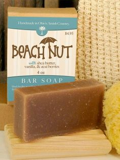 Beach Nut Soap ~ All Natural Handmade Moisturizing Bar 3.5oz