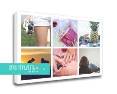 lienzos collages personalizables 6 fotografías. COLLAGE 21 FOTOGRAFÍAS Otro de los productos de Primera Vista que podrás comprar en su web www.imprimeravista.com  lienzos, personalizables, madird, entrega rápida, profesional, retoque, collage, premium, bastidor ancho, exposiciones