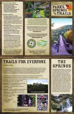 Eureka Springs Arkansas - Parks, Springs & Trails Map Brochure
