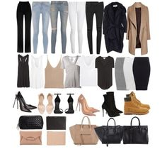 Just some wardrobe essentials coats & jackets outfits, minim Capsule Outfits, Fashion Capsule, Mode Outfits, Fall Outfits, Fashion Outfits, Fashion Mode, Look Fashion, Autumn Fashion, Womens Fashion