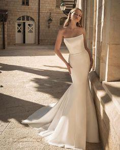 30 Totally Unique Fashion Forward Wedding Dresses ❤ fashion forward wedding dresses simple strapless neckline fit and flare pninatornai #weddingforward #wedding #bride #weddingoutfit #bridaloutfit #weddinggown
