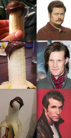 Three bananas that look like celebrities